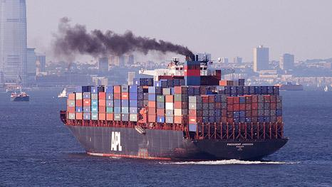 Container ship smoke coming out flickr tom turner seateam images 466px